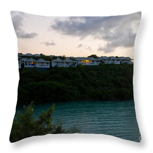 Antigua Throw Pillow featuring the photograph Resort By The Sea by Luis Alvarenga