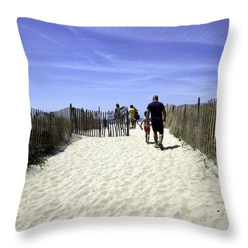 Beach Throw Pillow featuring the photograph Restricted - Bridgehampton - New York by Madeline Ellis