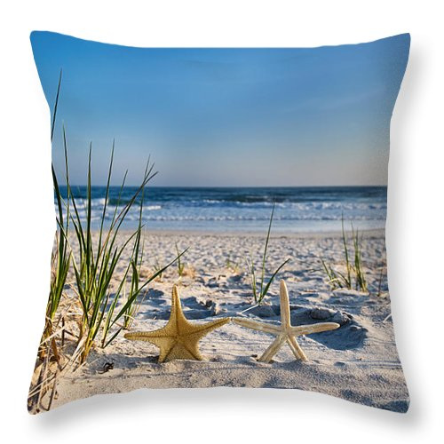 Beach Throw Pillow featuring the photograph Retirement by Dolly Genannt