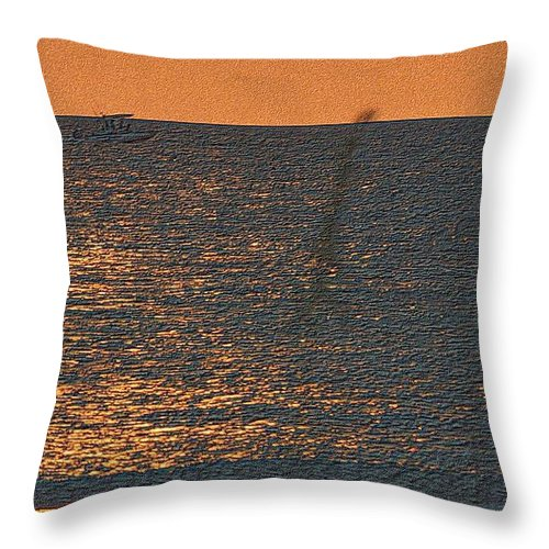 Florida Throw Pillow featuring the drawing Returning Fishermen by Richard Zentner