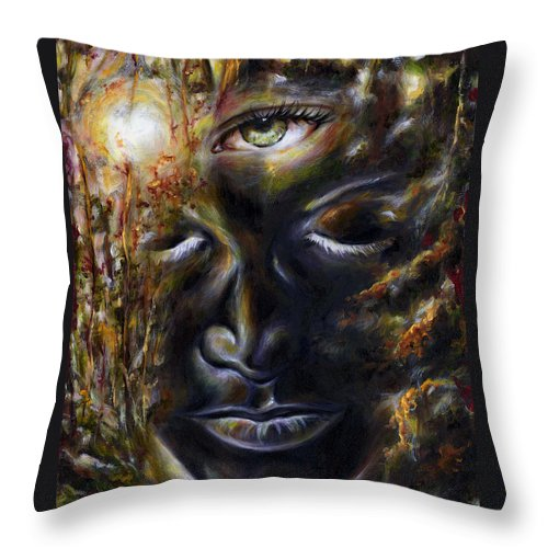 Eye Throw Pillow featuring the painting Revelation by Hiroko Sakai