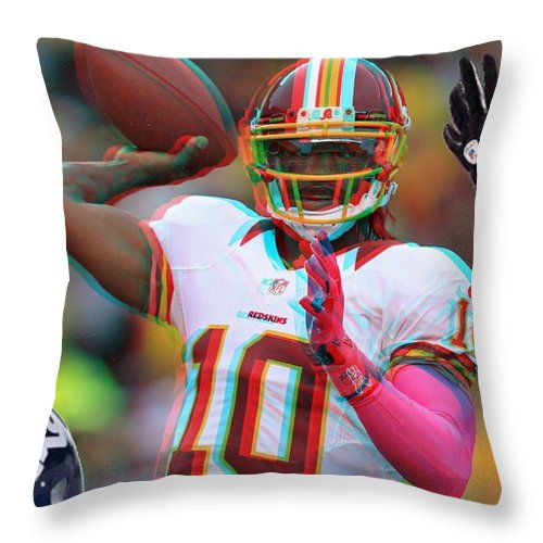 Rg3 Throw Pillow featuring the photograph Rg3 In 3d by Paul Van Scott
