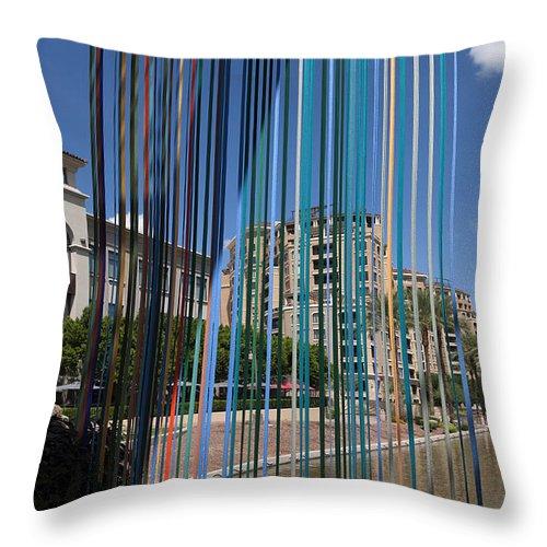Scottsdale Throw Pillow featuring the photograph Beribboned Bridge by Brenda Kean
