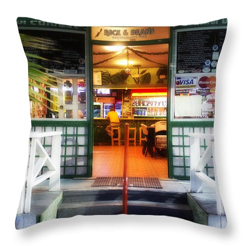 Rice & Beans Throw Pillow featuring the photograph Rice And Beans by Hugh Smith