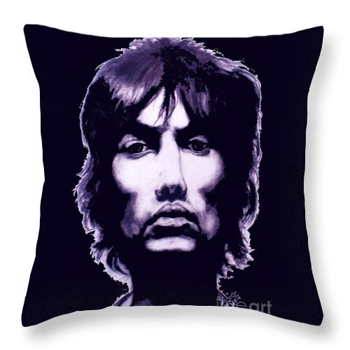 Richard Throw Pillow featuring the painting Richard Ashcroft Verve by Liam O Conaire