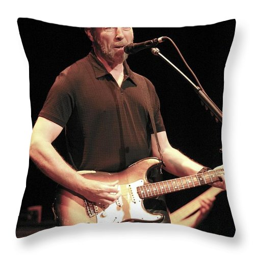 Richard Thompson Throw Pillow featuring the photograph Musician Richard Thompson by Concert Photos