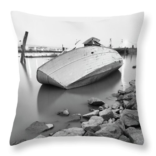 Tranquility Throw Pillow featuring the photograph Richmond, British Columbia, Canada by Brian Caissie