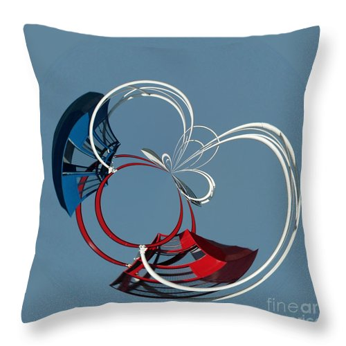 Abstract Throw Pillow featuring the photograph Ride The Ferris Wheel by Sami Martin