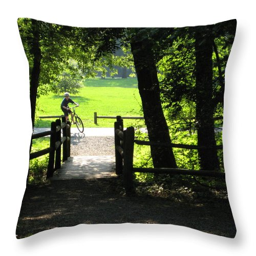 Trails Throw Pillow featuring the photograph Riding The Trails by Robin Vargo