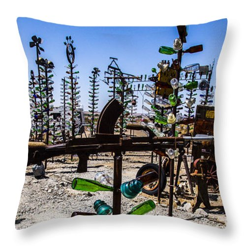 Bottleneck Ranch Throw Pillow featuring the photograph Rifle by Angus Hooper Iii