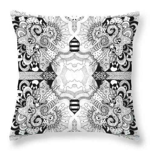 Abstract Throw Pillow featuring the digital art Right Here Right Now - A Give Us A Hug Compilation by Helena Tiainen
