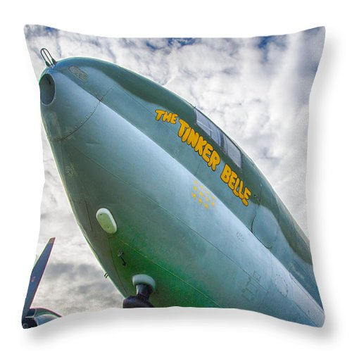 Aviation Throw Pillow featuring the photograph Right Under Your Nose 3774c by Guy Whiteley
