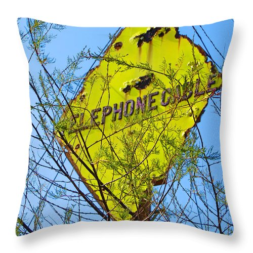 Telephone Throw Pillow featuring the photograph Ring Ring by Julia Hoefer-von Seelen