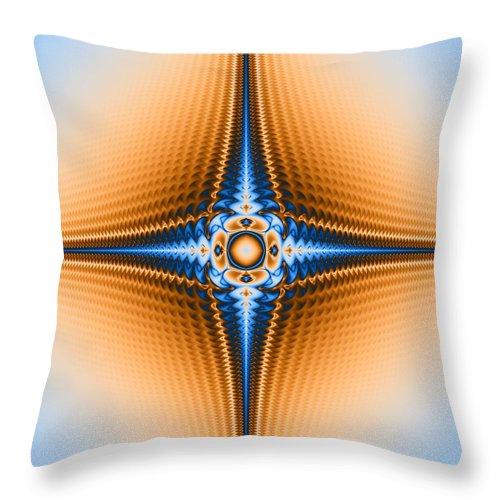Fractal Throw Pillow featuring the digital art Rip by Joseph Pugliese