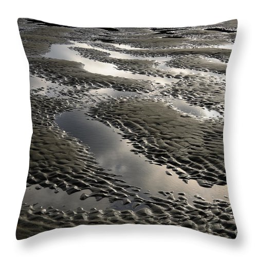 Bandon Throw Pillow featuring the photograph Rippled Sand by John Shaw