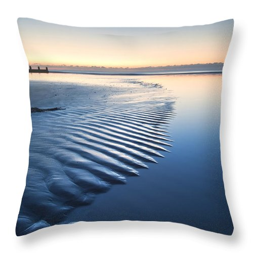 Beach Throw Pillow featuring the photograph Ripples by Matthew Gibson