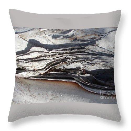 Abstract Throw Pillow featuring the photograph Ripples Of Waves by Jussta Jussta