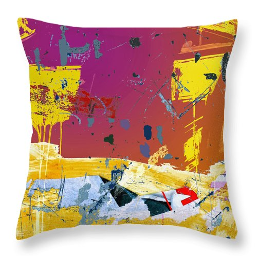 Rising Throw Pillow featuring the mixed media Rising by Dominic Piperata