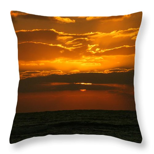 Hawaii Throw Pillow featuring the photograph Rising Sun In The Clouds by Lehua Pekelo-Stearns