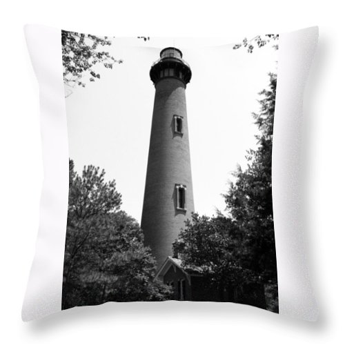Currituck Throw Pillow featuring the photograph Rising Through The Trees by IMH Photog