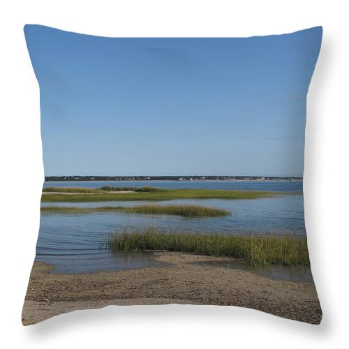 Sea Throw Pillow featuring the photograph Rising Tide by Barbara McDevitt