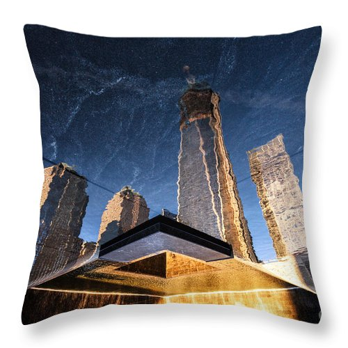World Trade Centre Throw Pillow featuring the photograph Rising Up by John Farnan