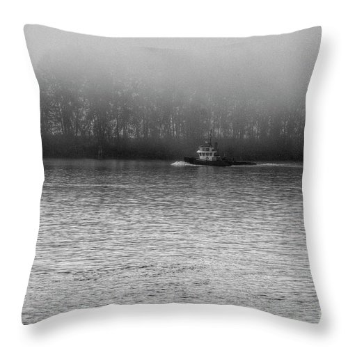 Beautiful Bc Throw Pillow featuring the photograph River Fog by Rod Wiens