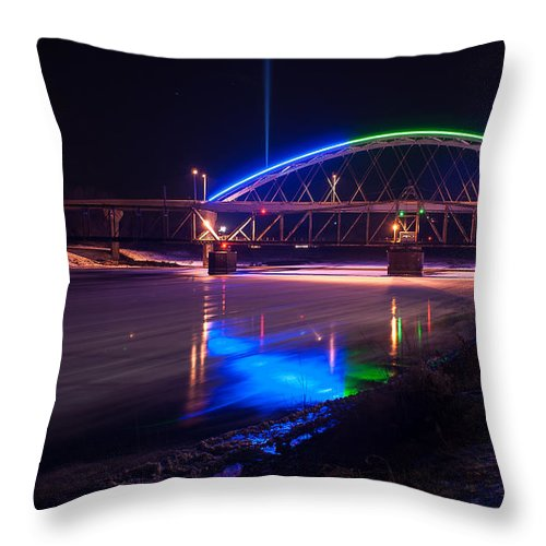 River Throw Pillow featuring the photograph River Ice by Mark McDaniel