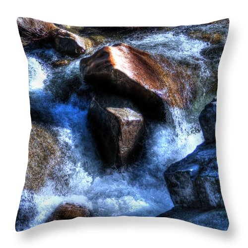 Rock Throw Pillow featuring the photograph River Rock by Janna and Kirk Davis