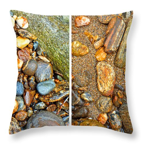 Duane Mcccullough Throw Pillow featuring the photograph River Rocks 9 In Stereo by Duane McCullough