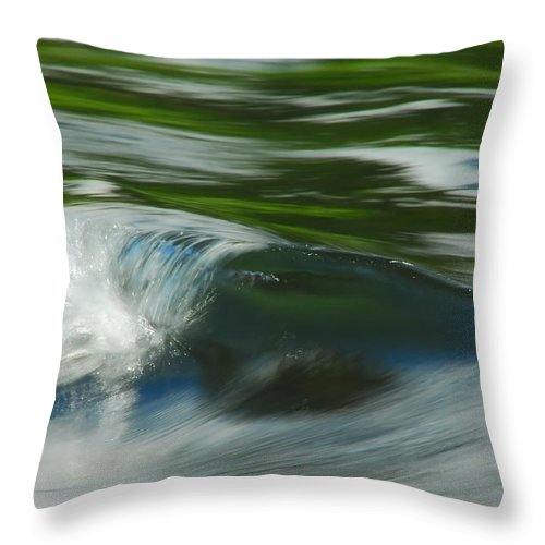 Water Throw Pillow featuring the photograph River Wave by Donna Blackhall