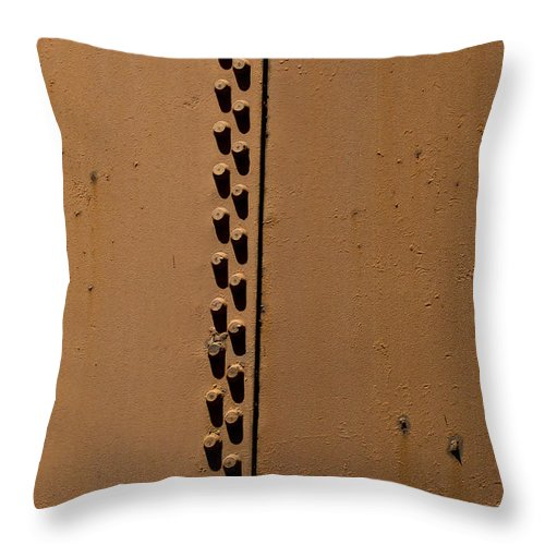 Furnace Stacks Throw Pillow featuring the photograph Riveted Plates  #1612 by J L Woody Wooden