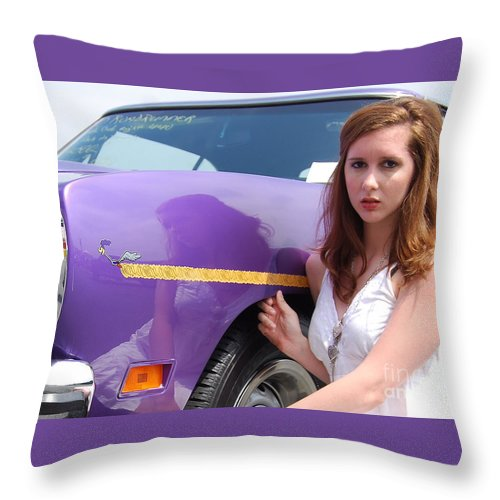 American Muscle Car Throw Pillow featuring the photograph Road Runner Reflections by Mark Spearman