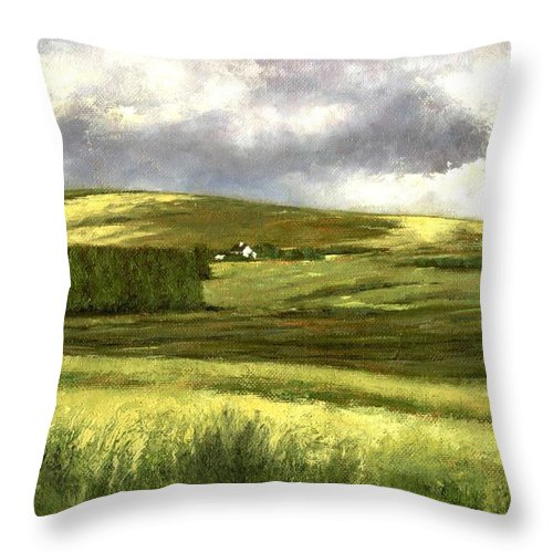 Irland Throw Pillow featuring the painting Road To Ardara by Jim Gola