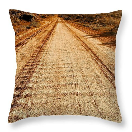 Color Photo Throw Pillow featuring the digital art Road To Everywhere by Tim Richards
