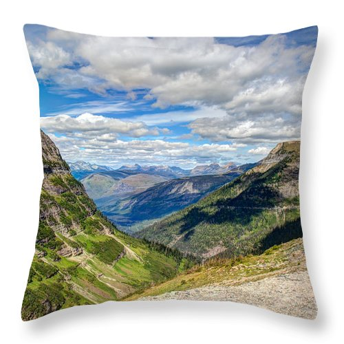 National Throw Pillow featuring the photograph Road To The Sun by John M Bailey