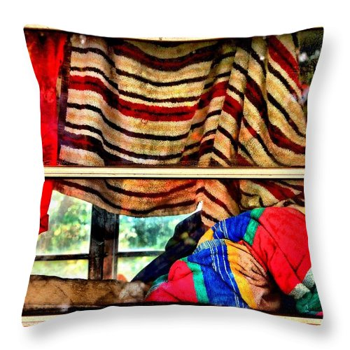 Abstract Throw Pillow featuring the photograph Road Trip by Lauren Leigh Hunter Fine Art Photography
