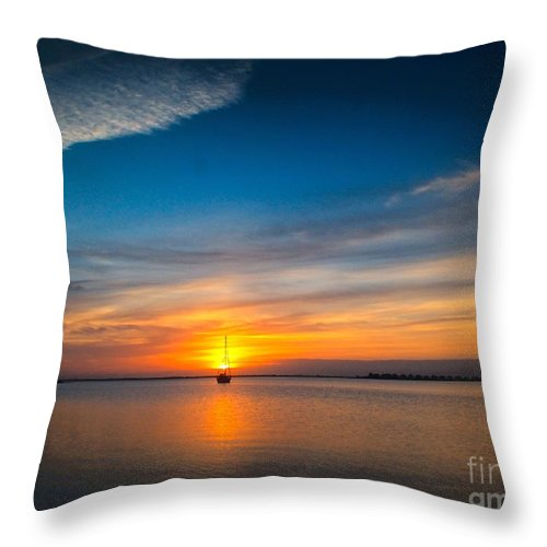 Dawn Throw Pillow featuring the photograph Roanoke Dawn by Nick Zelinsky