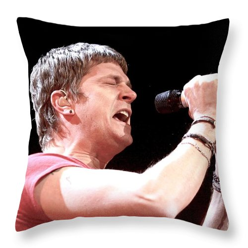 Musician Throw Pillow featuring the photograph Matchbox 20 - Rob Thomas by Concert Photos