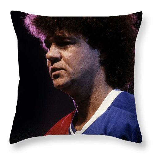 News Throw Pillow featuring the photograph Robert Charlebois by Pierre Roussel