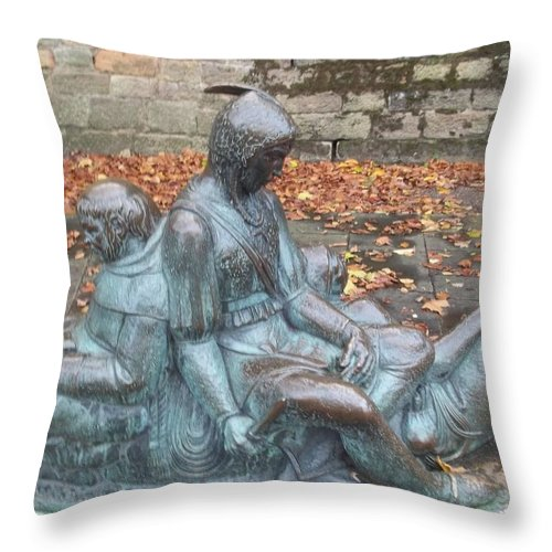 Robin Hood Throw Pillow featuring the photograph Robin Hood And His Men Take A Rest by James Potts