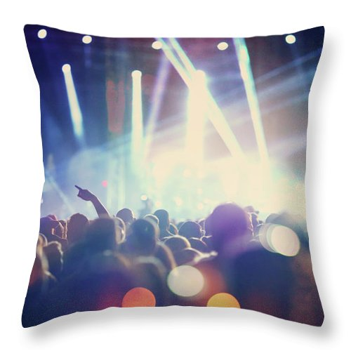 Event Throw Pillow featuring the photograph Rock Concert by Gilaxia