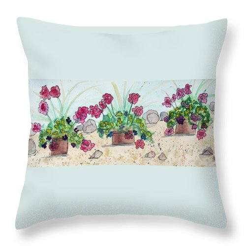 Rocks Throw Pillow featuring the photograph Rock Path by Natalie Rotman Cote