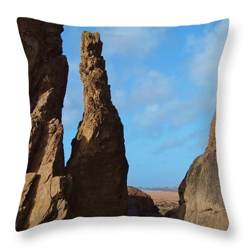 Rock Stack Throw Pillow featuring the photograph Rock Stack by Richard Brookes