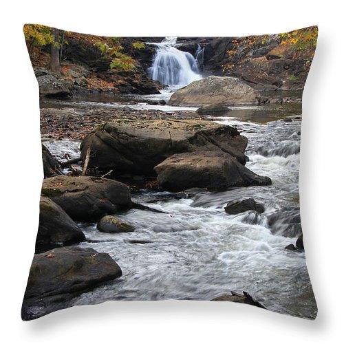Rockaway River Throw Pillow featuring the photograph Rockaway River by Allen Beatty