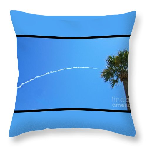 Rocket Launch Throw Pillow featuring the photograph Rocket Launch by Crystal Loppie