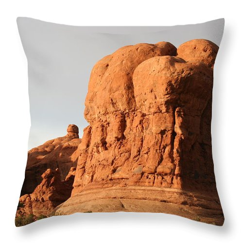 Rocks Throw Pillow featuring the photograph Rockformation Arches Park by Christiane Schulze Art And Photography