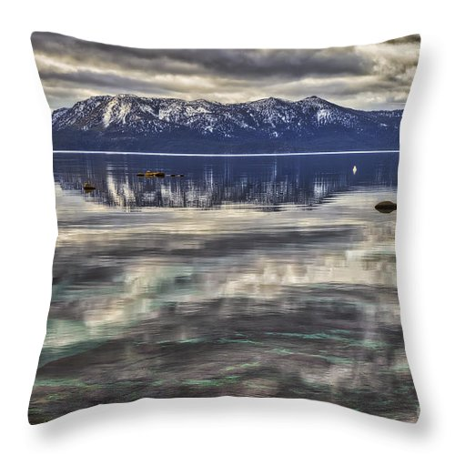 Rocks Throw Pillow featuring the photograph Rocks by Mitch Shindelbower