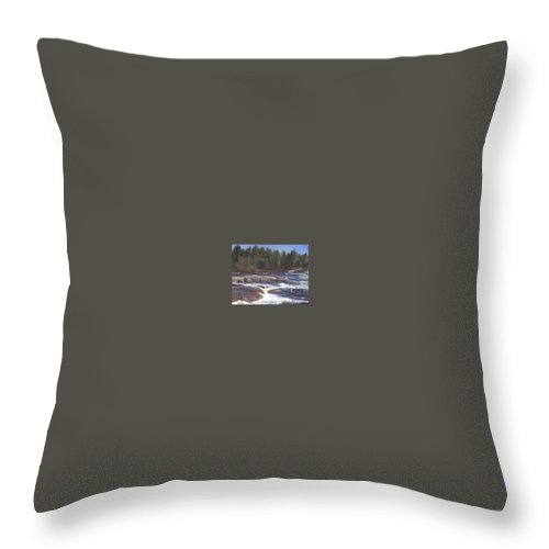 Rocks Throw Pillow featuring the painting Rocks by Sheila Mashaw