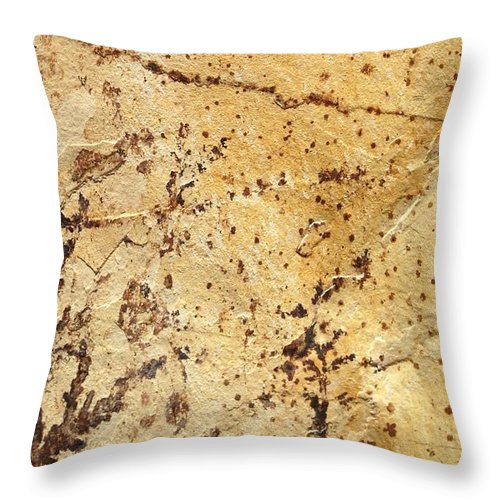 Rock Throw Pillow featuring the photograph Rockscape 11 by Linda Bailey